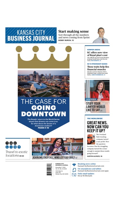Kansas City Business Journal review screenshots