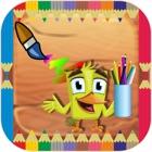 Zoo Coloring Book Erwachsene-Vorschule Zeichnung icon