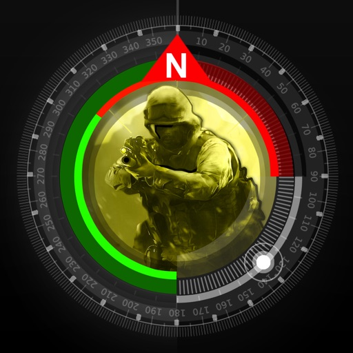 Compass J.P.J  Military Multifunction GPS Compass( Camping Hiking Army Style Survival app)