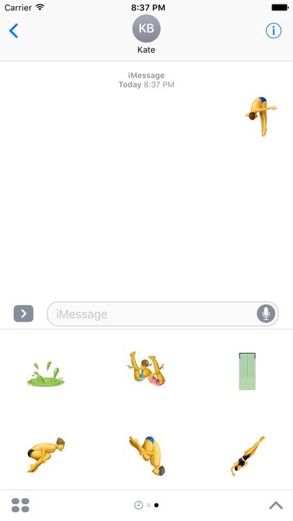Diving Sticker - Sports Emoji