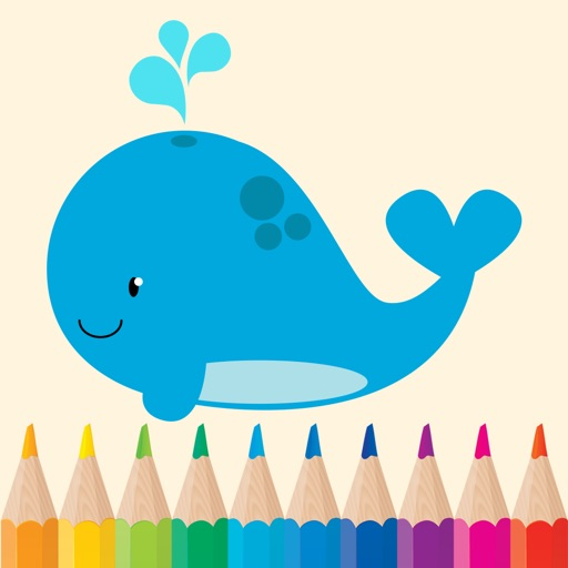 Sea Animals Coloring Pages for Preschool and Kindergarten HD Free iOS App