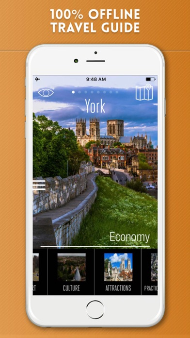 York Travel Guide with Offline City Street Map screenshot one