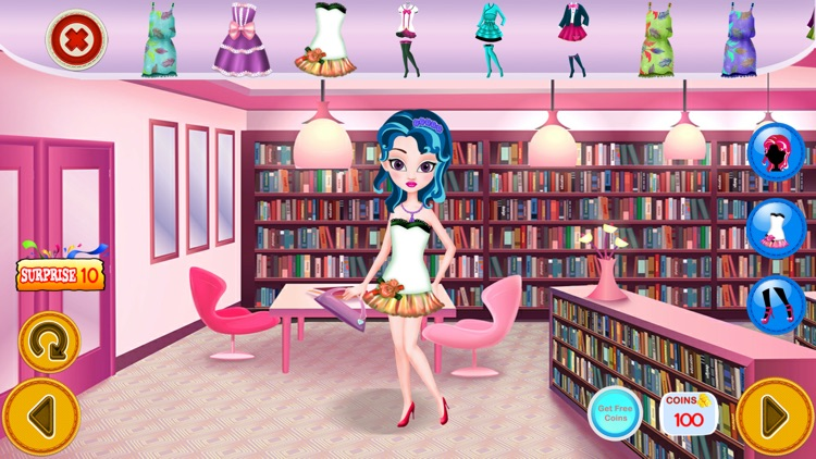 Princess Dress Up In Library Amazing - Unlock All
