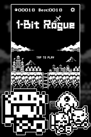 1-Bit Rogue: A dungeon crawler RPG! screenshot 1