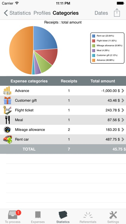 iExpenses Pro, manage all your reimbursements screenshot-4