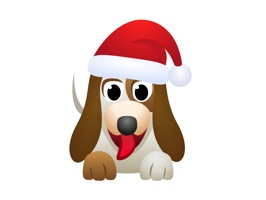 Dog Christmas stickers