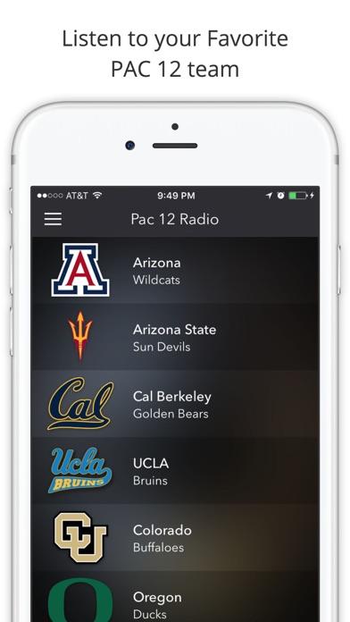 PAC 12 College Football Radio - Live Games screenshot one
