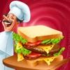 Food Court Sandwich 三明治 餐厅 争 自助餐馆 超 厨师 夺食品 法庭 发热