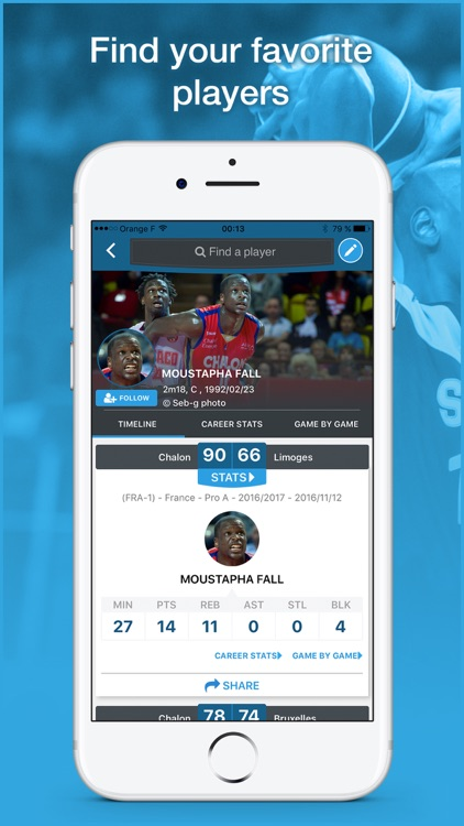 Proballers: connecting basketball players and fans