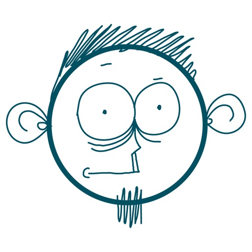 Doodle Sad Cartoon Boy Stickers