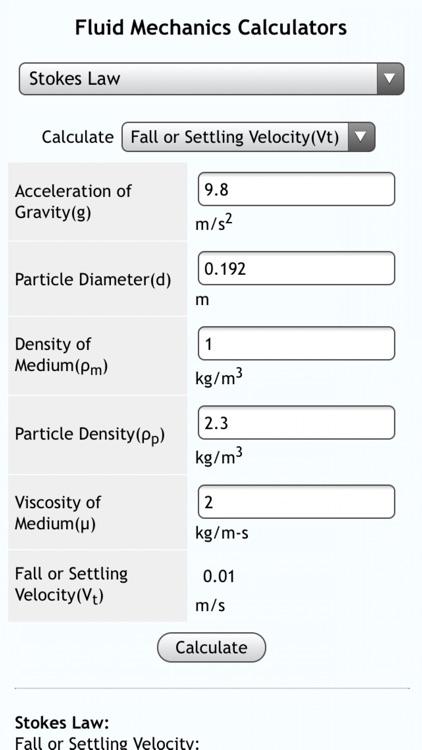 Fluid Mechanics I screenshot-3