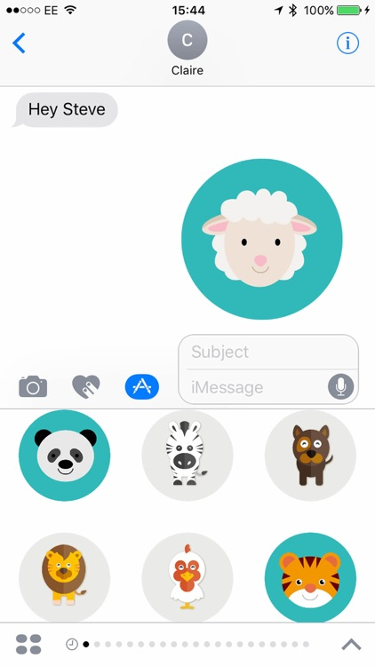 Sticker Zoo for iMessage