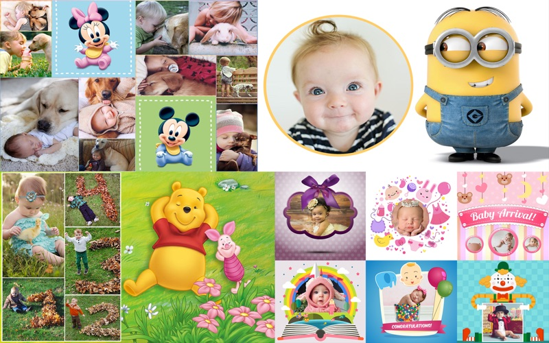 Baby frames and collage templates for photoshop app price drops screenshot 4 for baby frames and collage templates for photoshop maxwellsz
