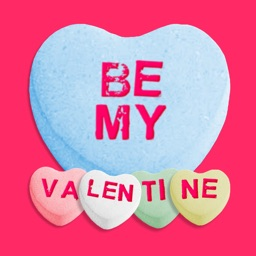 Be My Valentine - Candy Hearts Stickers