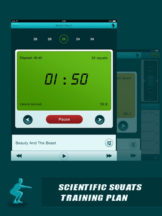 Squats Coach Pro for iPad - Do 200 Squats