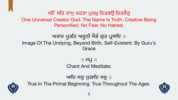 Japji Sahib in Gurmukhi Hindi English MP3 free screenshot-3