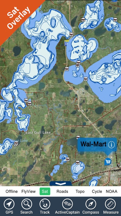 Harry S Truman Reservoir charts HD GPS fishing map