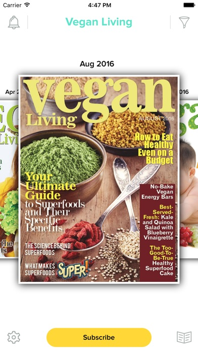 Vegan Living Magazine review screenshots