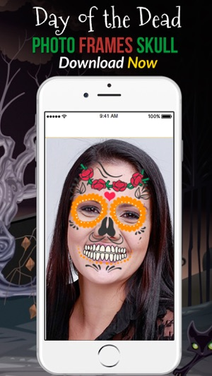 Day Of The Dead Photo Frame Skull On The App Store