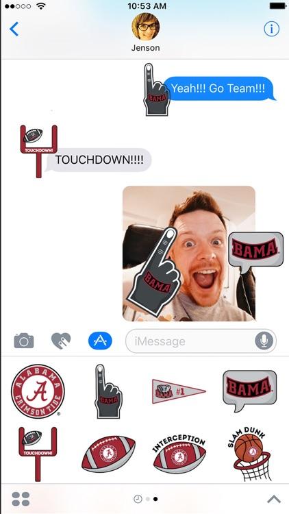 Alabama Crimson Tide Stickers for iMessage