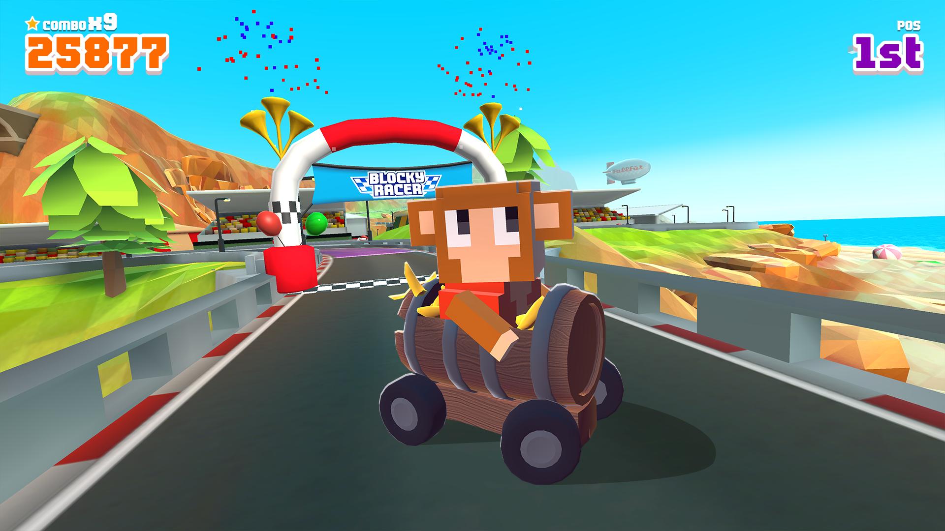 Blocky Racer - Endless Arcade Racing screenshot 13