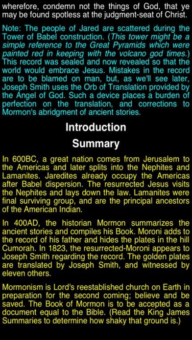 Summary Book Of Mormon (part I) review screenshots