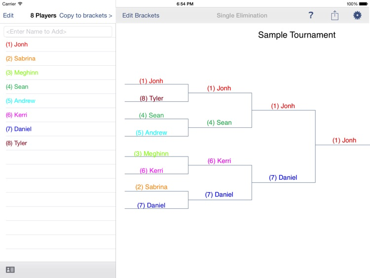 Bracket Maker for the iPad screenshot-0
