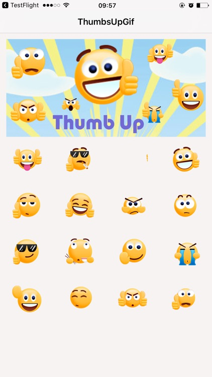 Thumbs Up Sticker - GIF Emoji for iMessage Free