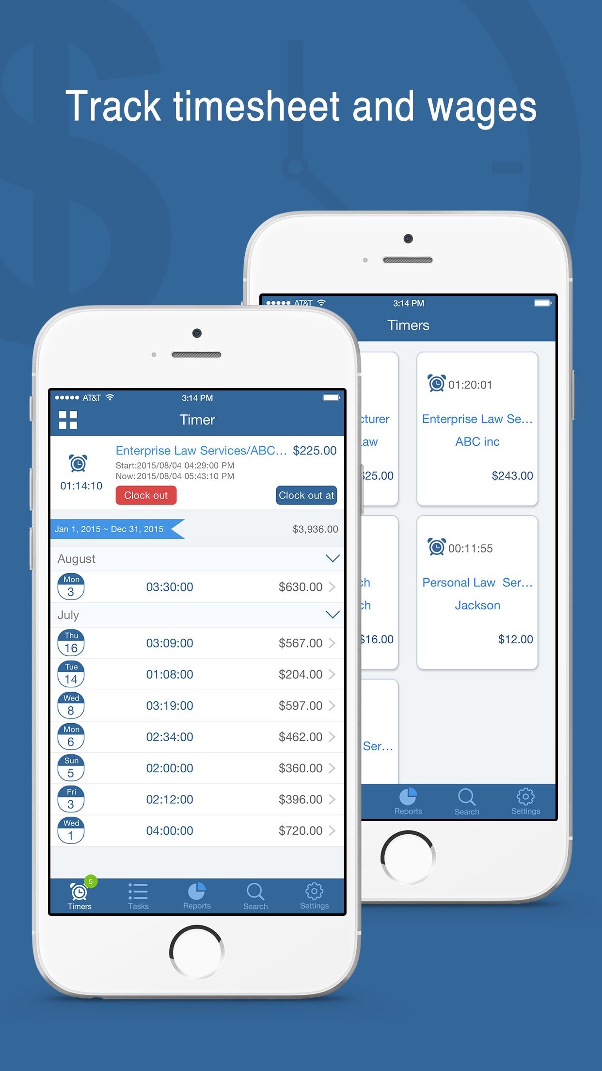 Worktime Tracker - Timesheet and Billing Manager Screenshot