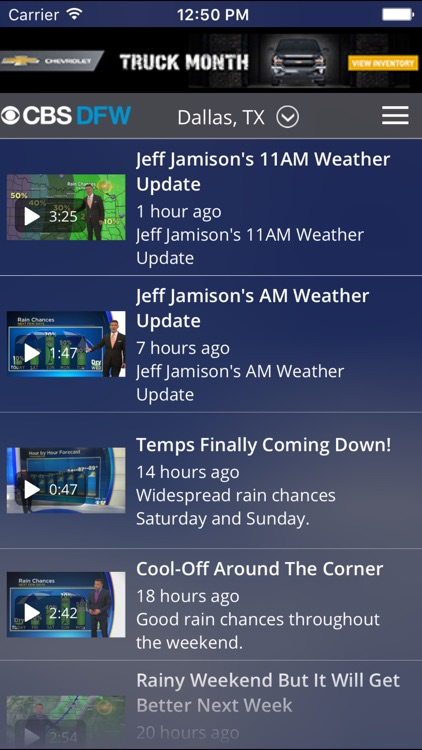 CBS DFW Weather screenshot-3