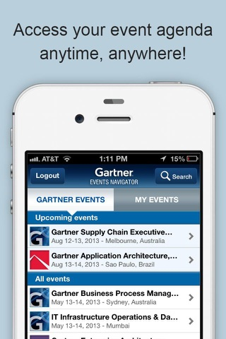 Gartner Events screenshot 3