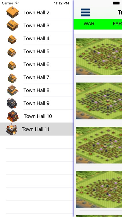 Top layouts for CoC