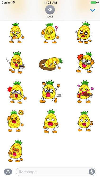 Devil Pine - Cutest pineapple stickers screenshot-3