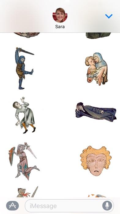 Mittelalterliche Reaktionen AufkleberScreenshot von 3