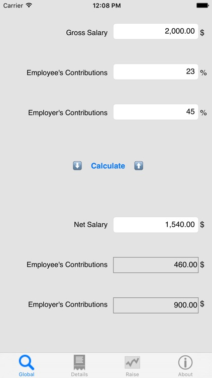 Salary Net/Gross, your income