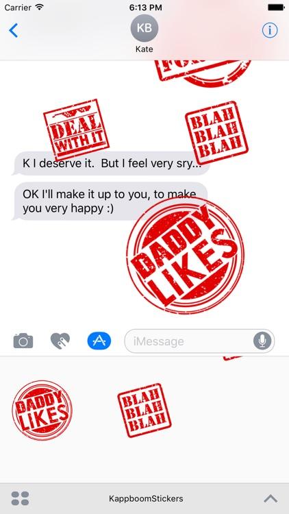 Kappboom™ Saucy Stamp Stickers screenshot-4