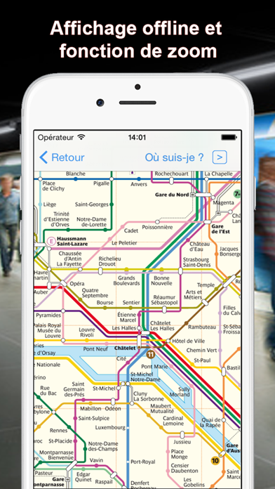 Screenshot #2 pour Metro FR - Paris, Lille, Lyon