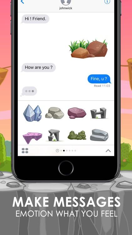 Stone Emoji Stickers Keyboard Themes ChatStick