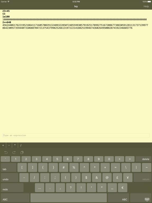 Ivy big number calculator-ipad-0