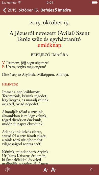 Zsolozsma screenshot three