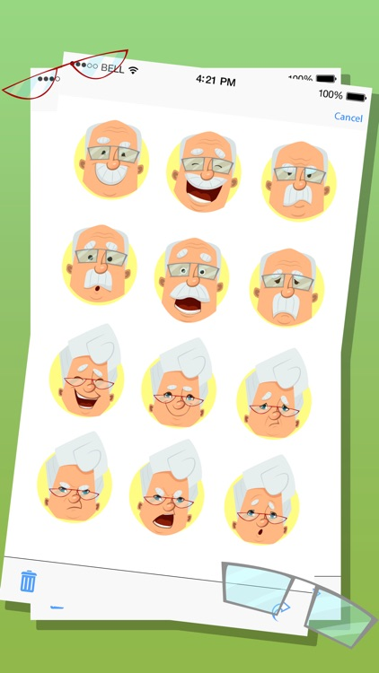 Old Man Expressions Emoticons Stickers