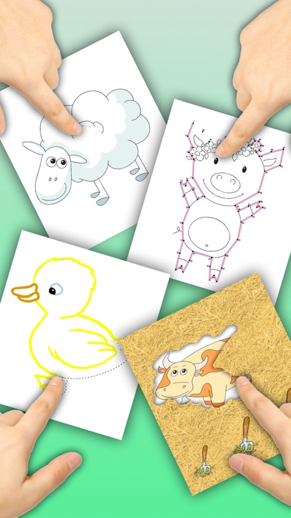 Connect dots, paint animals in zoo book - Premium