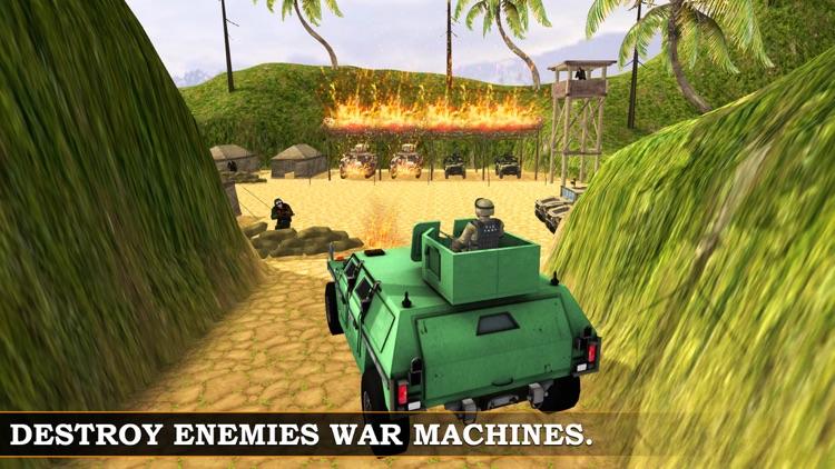 Army War jeep simulator & Shooting Battle Sim screenshot-3