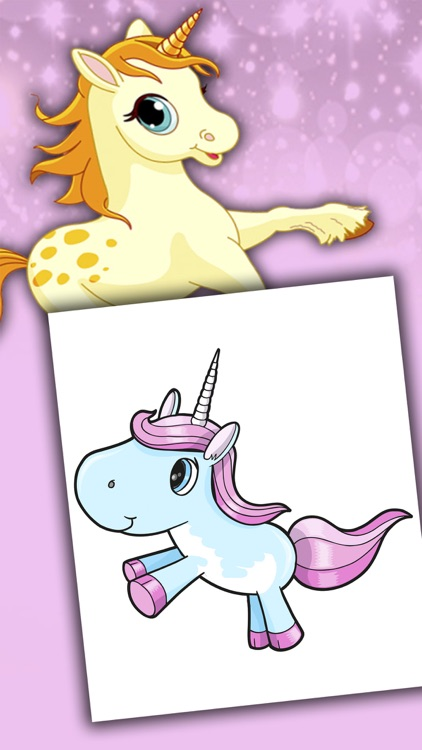 Unicorns coloring book for kids 2 to 6 years - Pro screenshot-4
