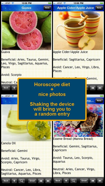 The Horoscope Diet Food List 600