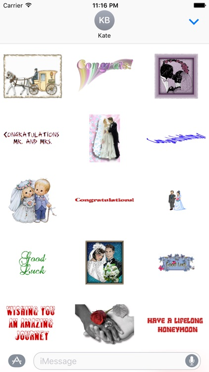 Wedding wishes stickers for iMessage