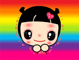 Rainbow Lady - Cute stickers for iMessage