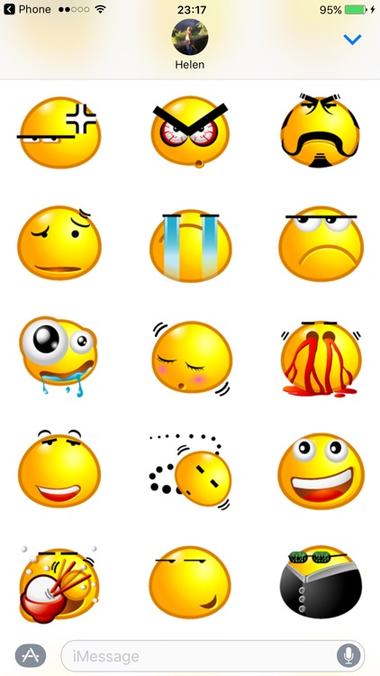 Yellow Bubble Emoji Sticker Pack for iMessage
