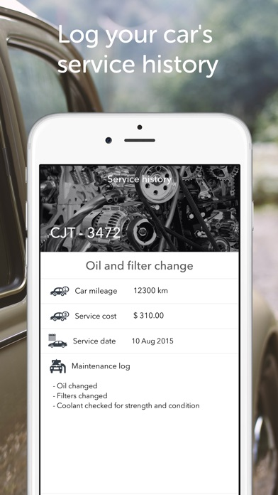 car assistant service history by tei software studios ios united