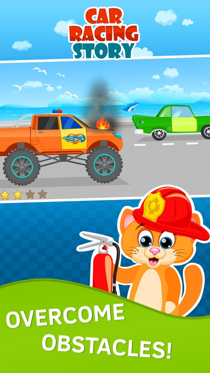 Toddler Racing Car Game for Kids. Premium